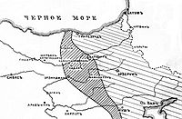 The area of Russian occupation of that region in summer 1916 (Russian map).