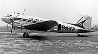 An Air France Douglas DC-3 at Manchester Airport in 1952