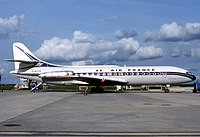 Air France Sud Aviation Caravelle in the oldest Livery