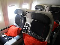 Premium Economy seats on a refurbished Air France Boeing 777-200ER