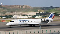 An Air France regional jet operated by Brit Air, now Air France Hop