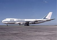 Air France operated 33 Boeing 747s by 1983. Here, a 747-100 is seen at Paris (CDG) in 1978