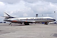 One of Air France's Caravelle jetliners in 1977