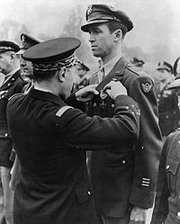 Colonel Stewart receiving the Croix de Guerre with Palm in 1944