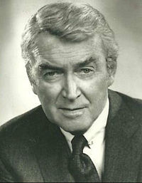 Stewart in a publicity still for the mystery series Hawkins (1973), which ran for one season.