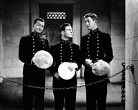 Robert Young, Tom Brown, and Stewart in Navy Blue and Gold (1937)