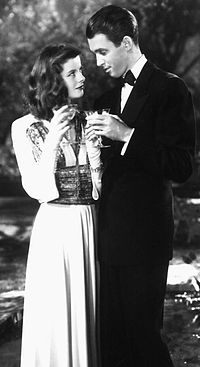 Stewart with Katharine Hepburn in The Philadelphia Story (1940), for which he won his only Academy Award for Best Actor.