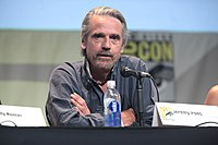 Jeremy Irons in 2015. He portrays Hans Gruber's brother Simon in 1995's Die Hard with a Vengeance.