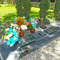 The tomb of Pablo Escobar and family in the Monte Sacro Cemetery, Itagüí