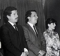 The Justice Minister Rodrigo Lara (center) and presidential candidate Luis Carlos Galán (left) were both assassinated by orders of Escobar
