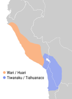 Tiwanaku at its largest territorial extent, AD 950 (present-day boundaries shown).