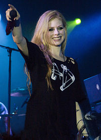 Avril Lavigne performs in Jakarta, Indonesia on the Black Star Tour on May 11, 2011.