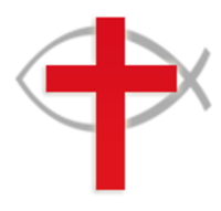 The Latin cross and Ichthys symbols, two symbols often used by Christians to represent their religion