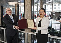 North Macedonia commemorates its accession to NATO at the US Department of State.