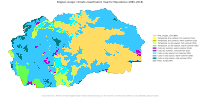 Köppen–Geiger climate classification map for North Macedonia