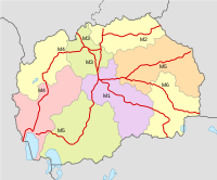 Map of current and planned highways