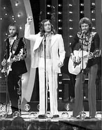 The Bee Gees performing at The Midnight Special in 1973