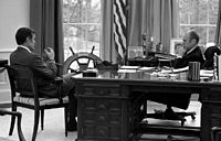 President Gerald Ford meets with CIA Director-designate George H. W. Bush, December 17, 1975