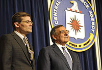 Former CIA deputy director Michael Morell (left) apologized to Colin Powell for the CIA's erroneous assessments of Iraq's WMD programs.