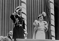 King George VI and Queen Elizabeth at Toronto City Hall, 1939