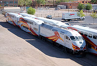 The New Mexico Rail Runner Express is a commuter operation that runs along the Central Rio Grande Valley.