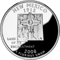New Mexico state quarter, circulated in April 2008