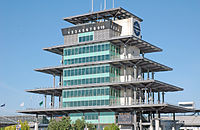 Pagoda at the Indianapolis Motor Speedway was completed in 2000.