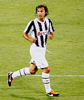 Pirlo with Juventus in 2011. He went on to appear in 41 matches in his first season with the Bianconeri.