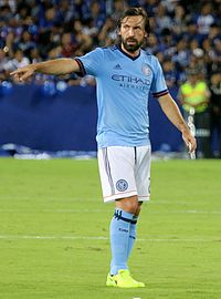 Pirlo with New York City in 2017