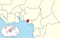 Location of the Republic of Benin in red