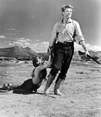 With Audrey Hepburn in The Unforgiven (1960)