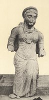 Sculpture of woman from ancient Braj-Mathura ca. 2nd century CE.