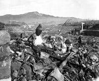 """The Nagasaki Prefecture Report on the bombing characterized Nagasaki as """"like a graveyard with not a tombstone standing""""."""