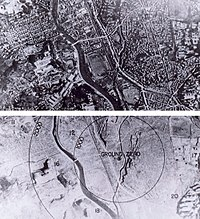 Nagasaki before and after the bombing and the fires had long since burnt out