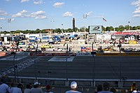 The infield of the Milwaukee Mile showing some of the field for the 2009 NorthernTool.com 250
