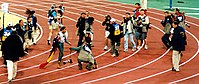 Cathy Freeman after the 400-metre final