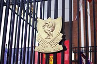 A version of Liverpool's Crest as depicted on the Shankly Gates