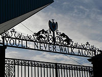 The Shankly Gates, erected in honour of former manager Bill Shankly