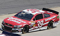 Ryan Newman competing in the 2013 STP Gas Booster 500 at Martinsville Speedway
