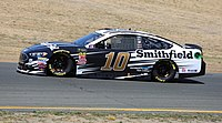 Aric Almirola in the No. 10 at Sonoma Raceway in 2018