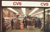 A CVS storefront typical of the mid-20th century, as shown in the company's 1971 annual report