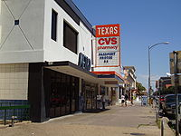 A CVS location (#7606) in Austin, Texas, across from the University of Texas at Austin
