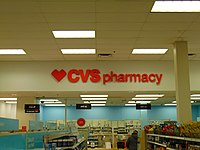 A normal CVS location inside Target located in the Warwick Mall.