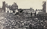 Retreating Confederates burned one-fourth of Richmond in April 1865.