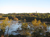 View of the Carillon from across the James River