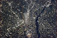 The Richmond area, seen from the International Space Station in early April 2013