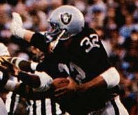 Allen led the Raiders to a championship in Super Bowl XVIII and earned MVP honors as he rushed for a record of 191 yards, including a memorable 74-yard touchdown run.