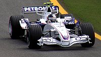 Vettel during practice at the 2006 Brazilian Grand Prix for BMW Sauber