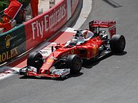 Vettel driving for Ferrari at the 2016 Monaco Grand Prix