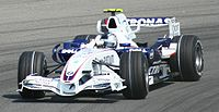 Vettel on his race debut at the 2007 United States Grand Prix